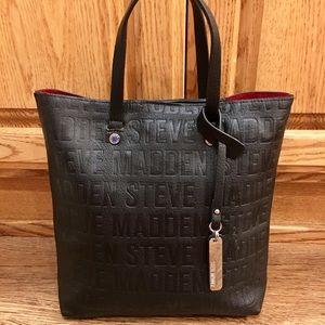 NWOT Steve Madden Black & Red Tote Bag